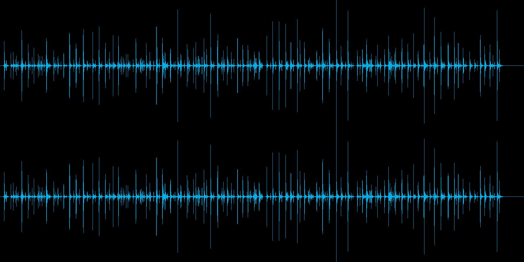 チャチャ..。PCタイピング音(高・長)の再生済みの波形