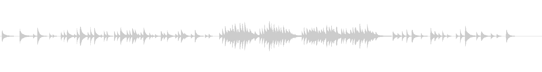 切ない中にも温かさのあるピアノ旋律の未再生の波形