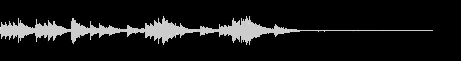 和風のジングル9b-タックピアノの未再生の波形