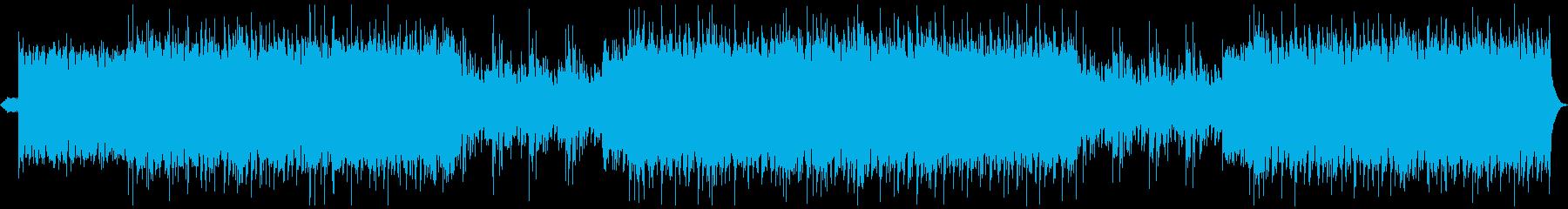 エレキギターが熱く疾走するメタル・ロックの再生済みの波形