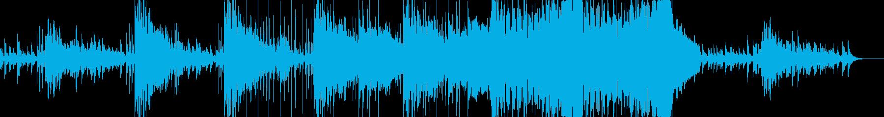 不安な気分を表現したエレクトロニカの再生済みの波形
