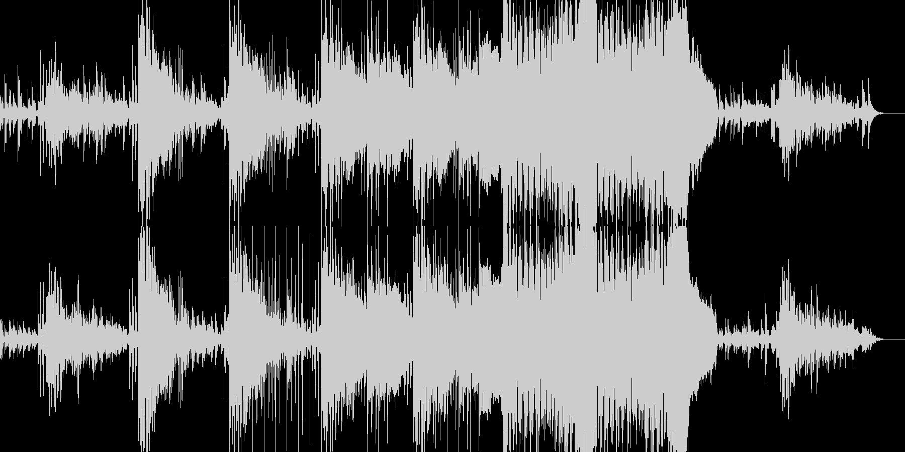 不安な気分を表現したエレクトロニカの未再生の波形