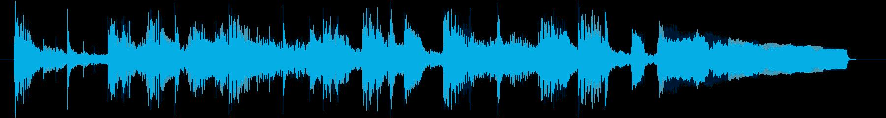 コーナータイトル_JAZZギタージングルの再生済みの波形
