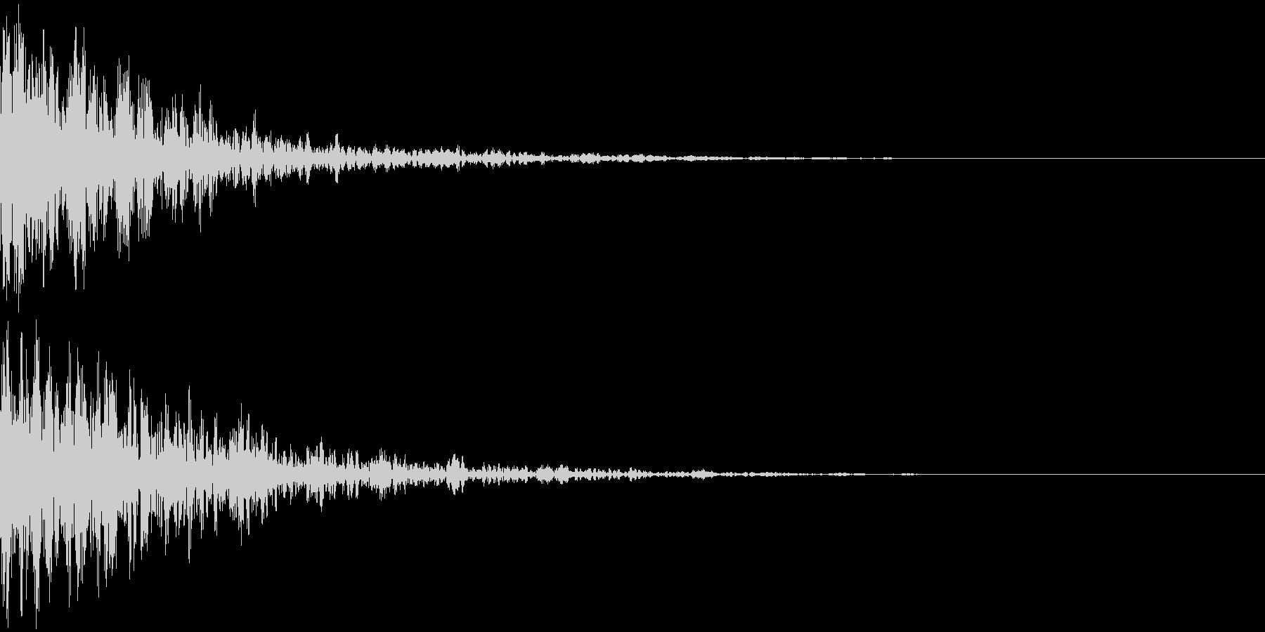 ドーン-27-2(インパクト音)の未再生の波形