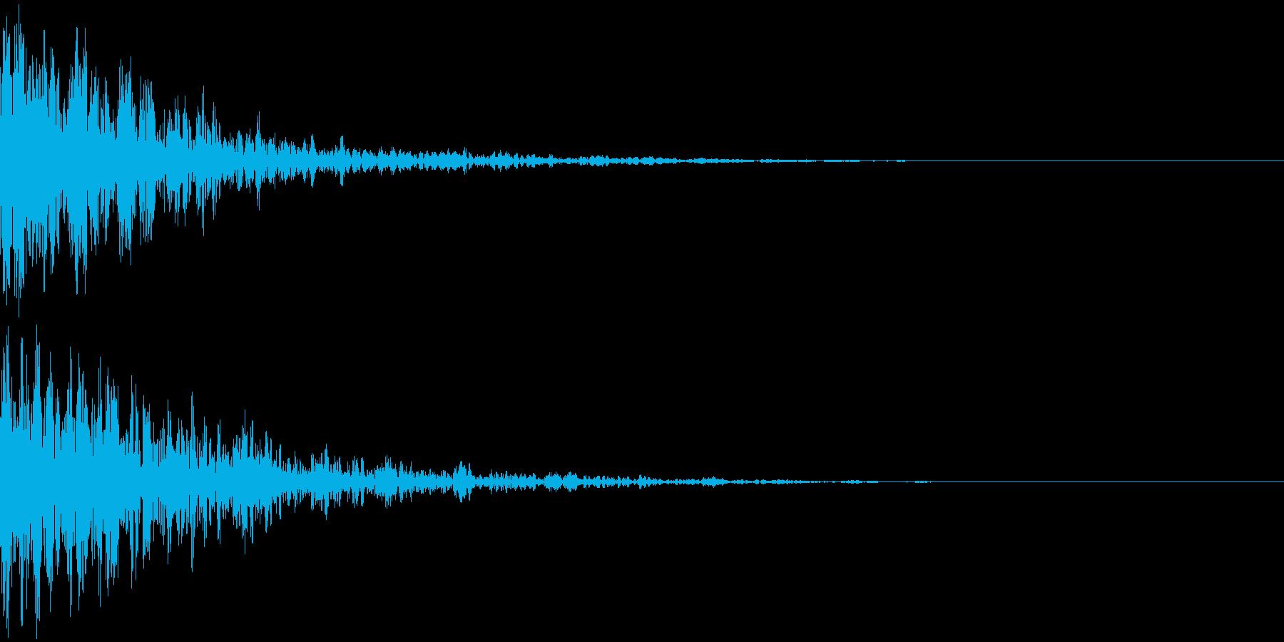 ドーン-27-2(インパクト音)の再生済みの波形