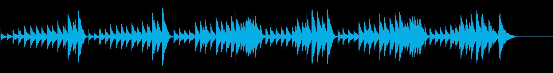 キラキラ星変奏曲(Var Ⅸ)オルゴールの再生済みの波形