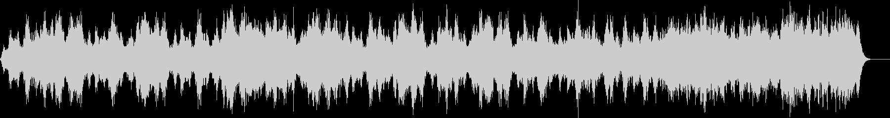 不気味な水の音のホラーアンビエントの未再生の波形