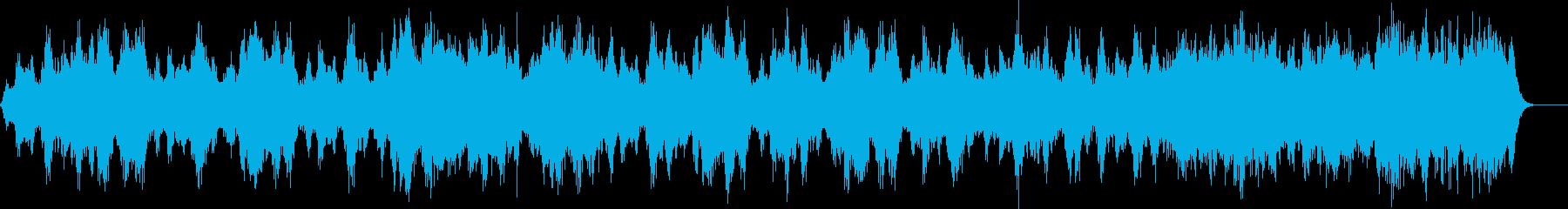 不気味な水の音のホラーアンビエントの再生済みの波形