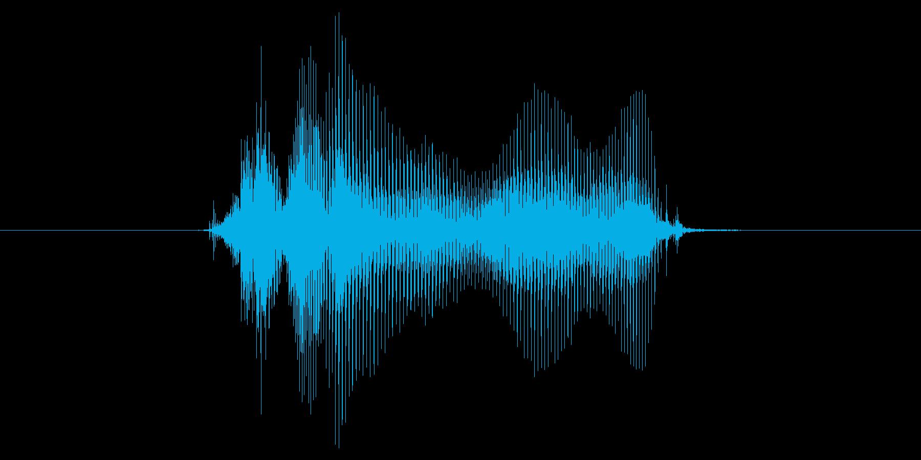 ちぇ〜!の再生済みの波形