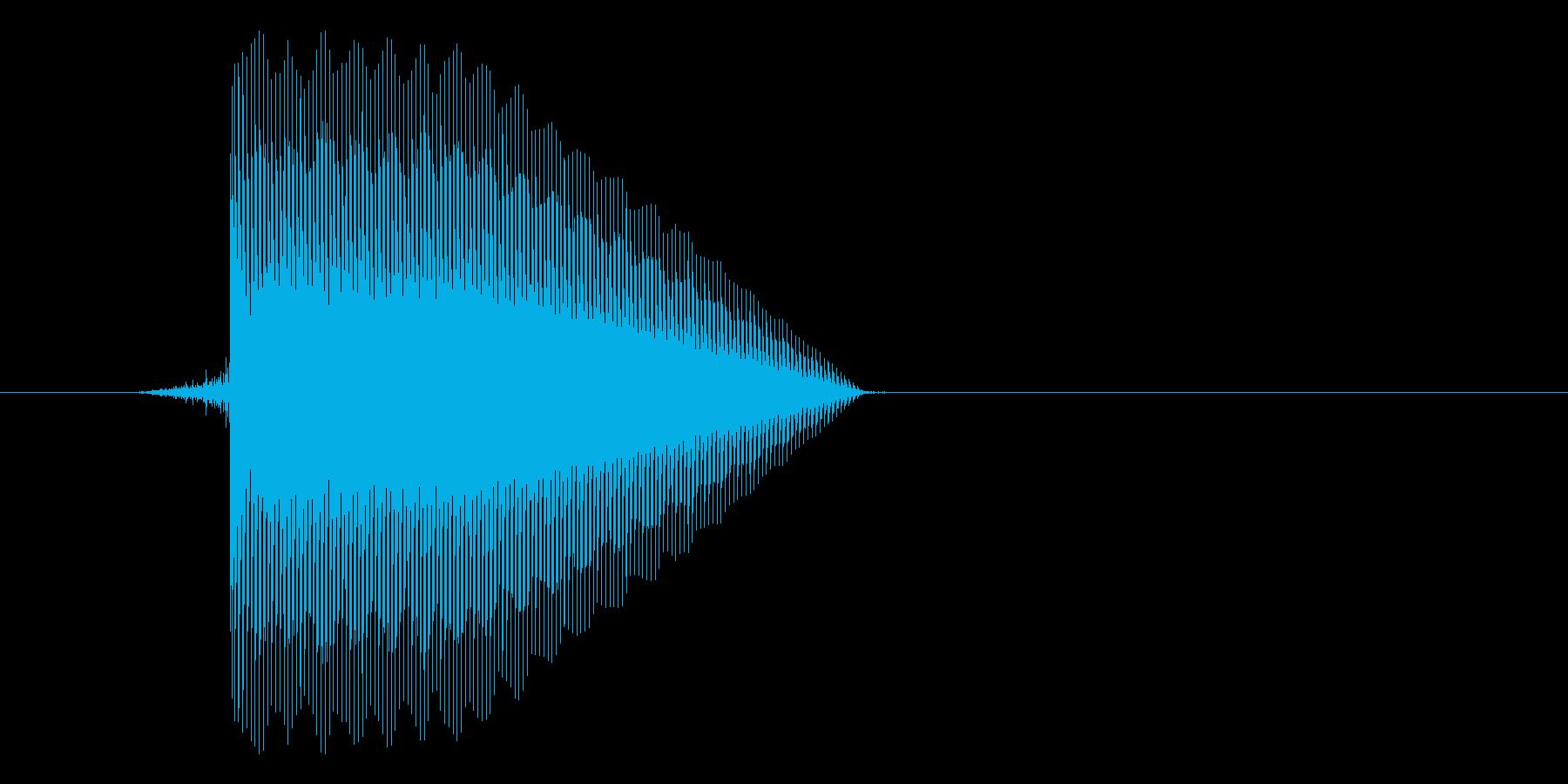 ゲーム(ファミコン風)セレクト音_045の再生済みの波形