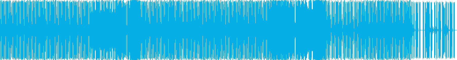 金属的な雰囲気の軽快なテクノの再生済みの波形