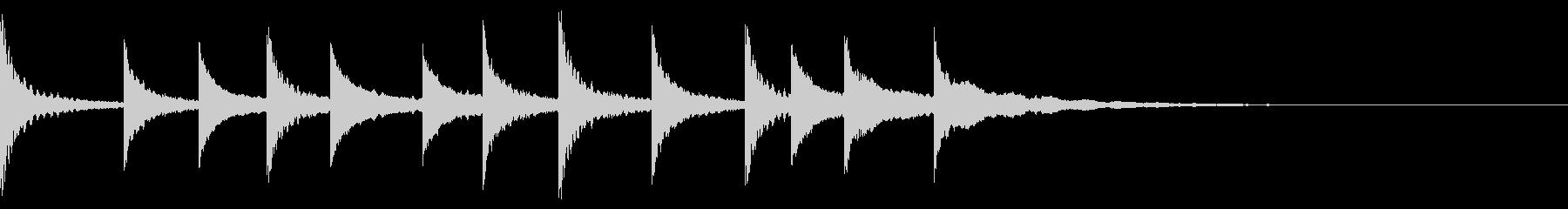 不思議な金属音の未再生の波形