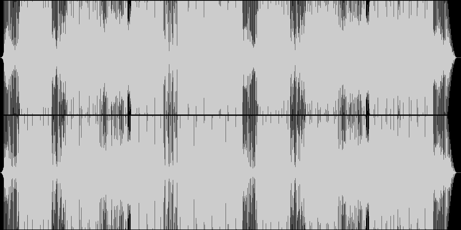 琴で奏でるお祭り系ダンス楽曲の未再生の波形
