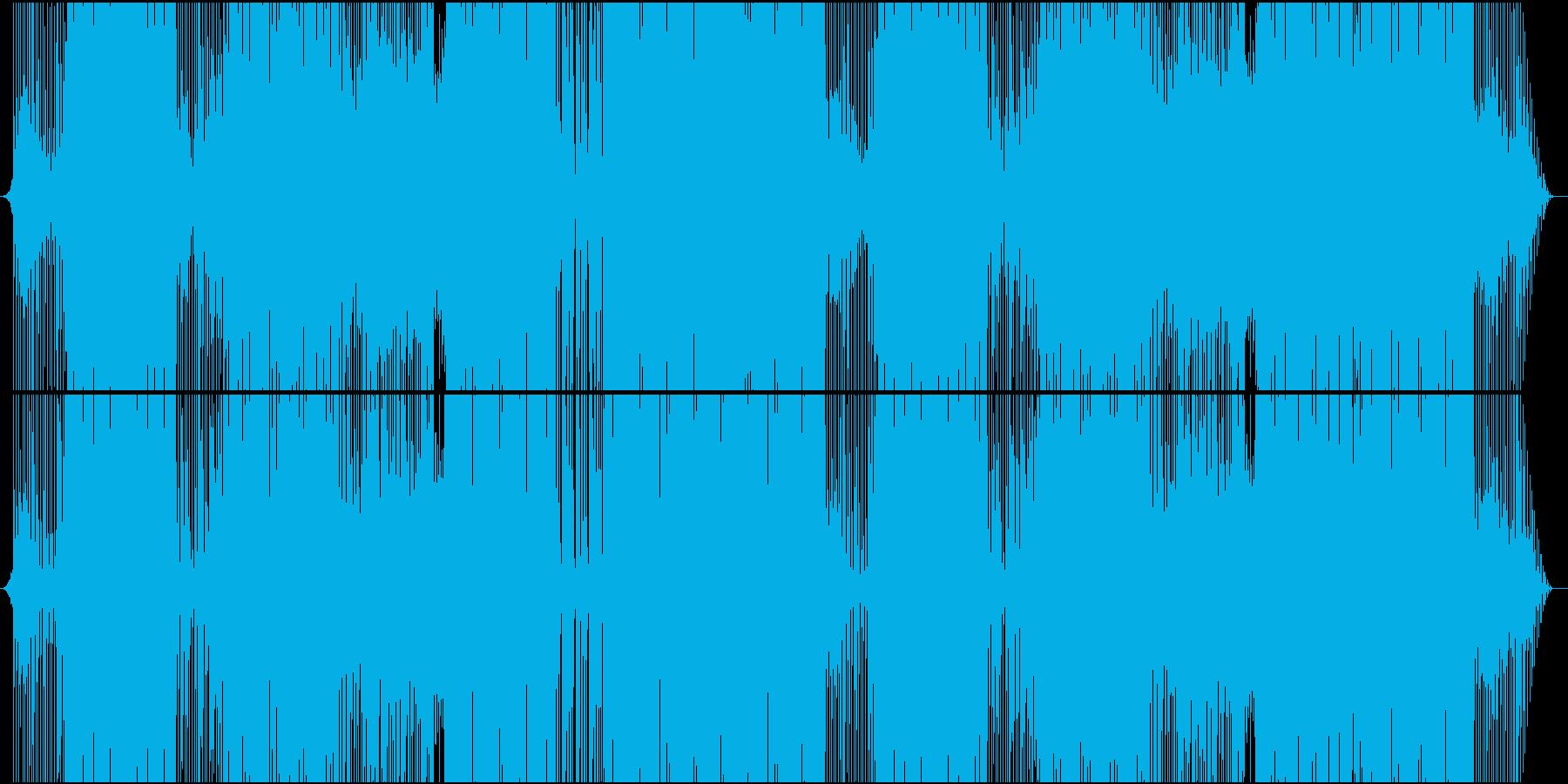 琴で奏でるお祭り系ダンス楽曲の再生済みの波形