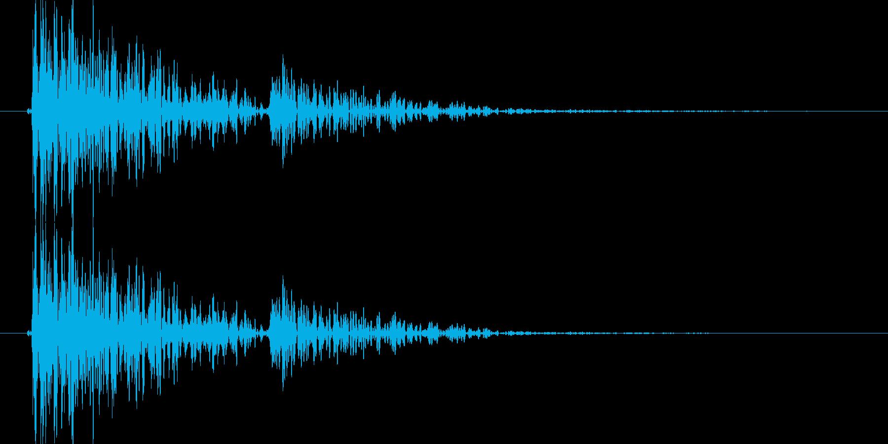 ゴトン(宝箱が落ちる)の再生済みの波形