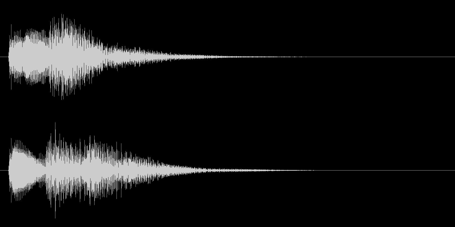 決定ボタンを押した時などの効果音。の未再生の波形