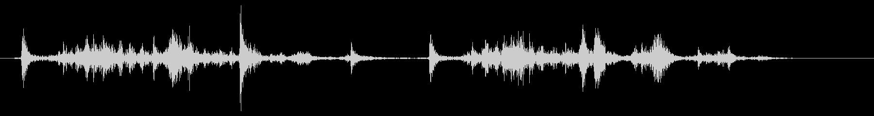 船外機のプルコードを2回引くの未再生の波形