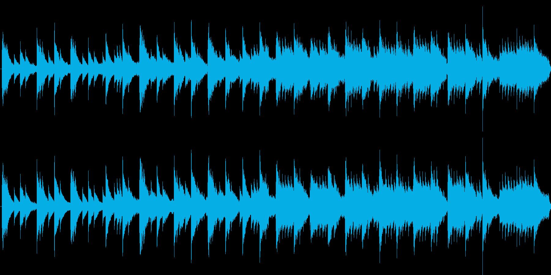 オルゴールの曲のようなインストの再生済みの波形