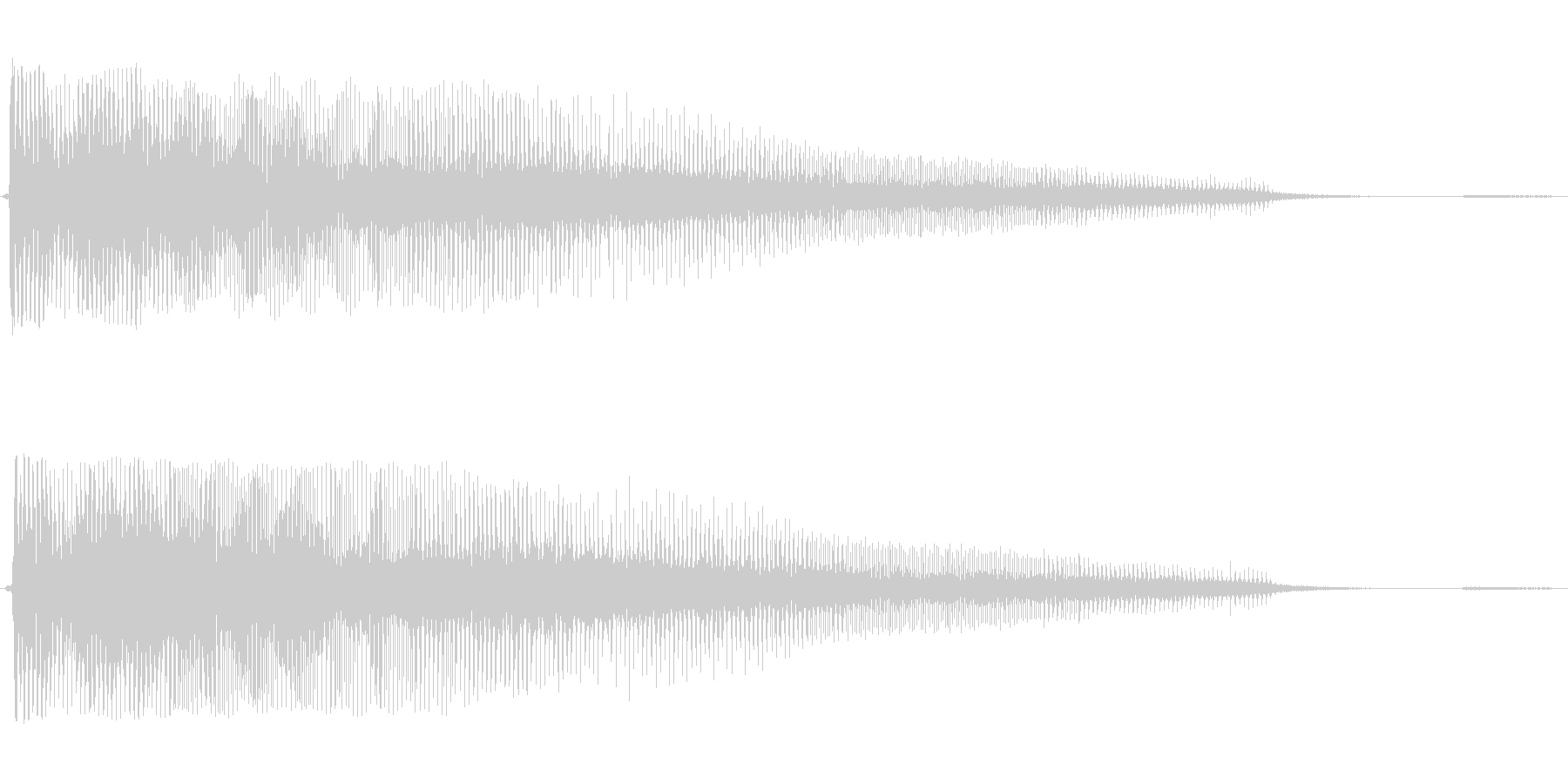 ボワーン(怪しい不気味な音)の未再生の波形