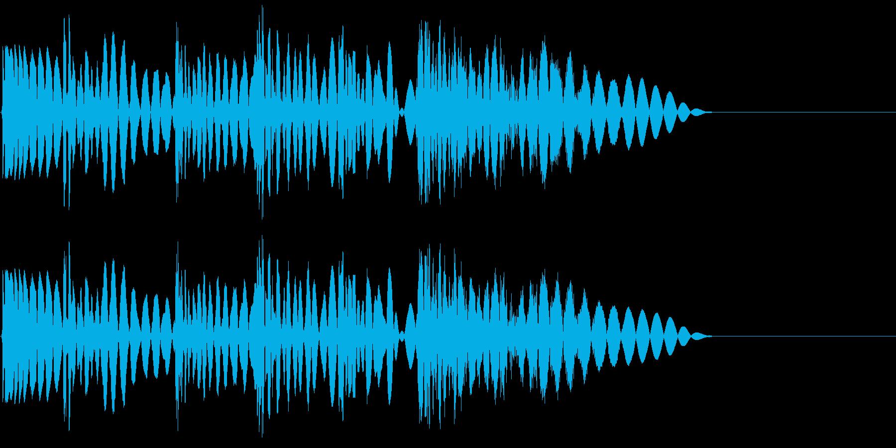 ボコボコビシッ(ラッシュ攻撃)の再生済みの波形