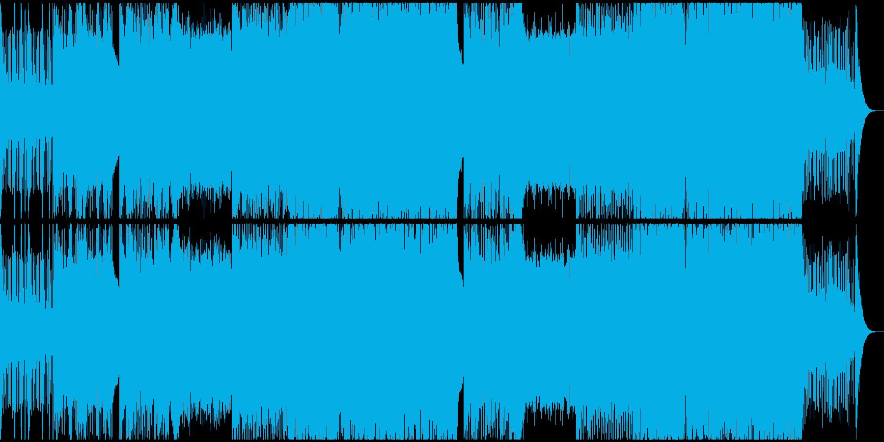 切なくも疾走感のあるEDMの再生済みの波形