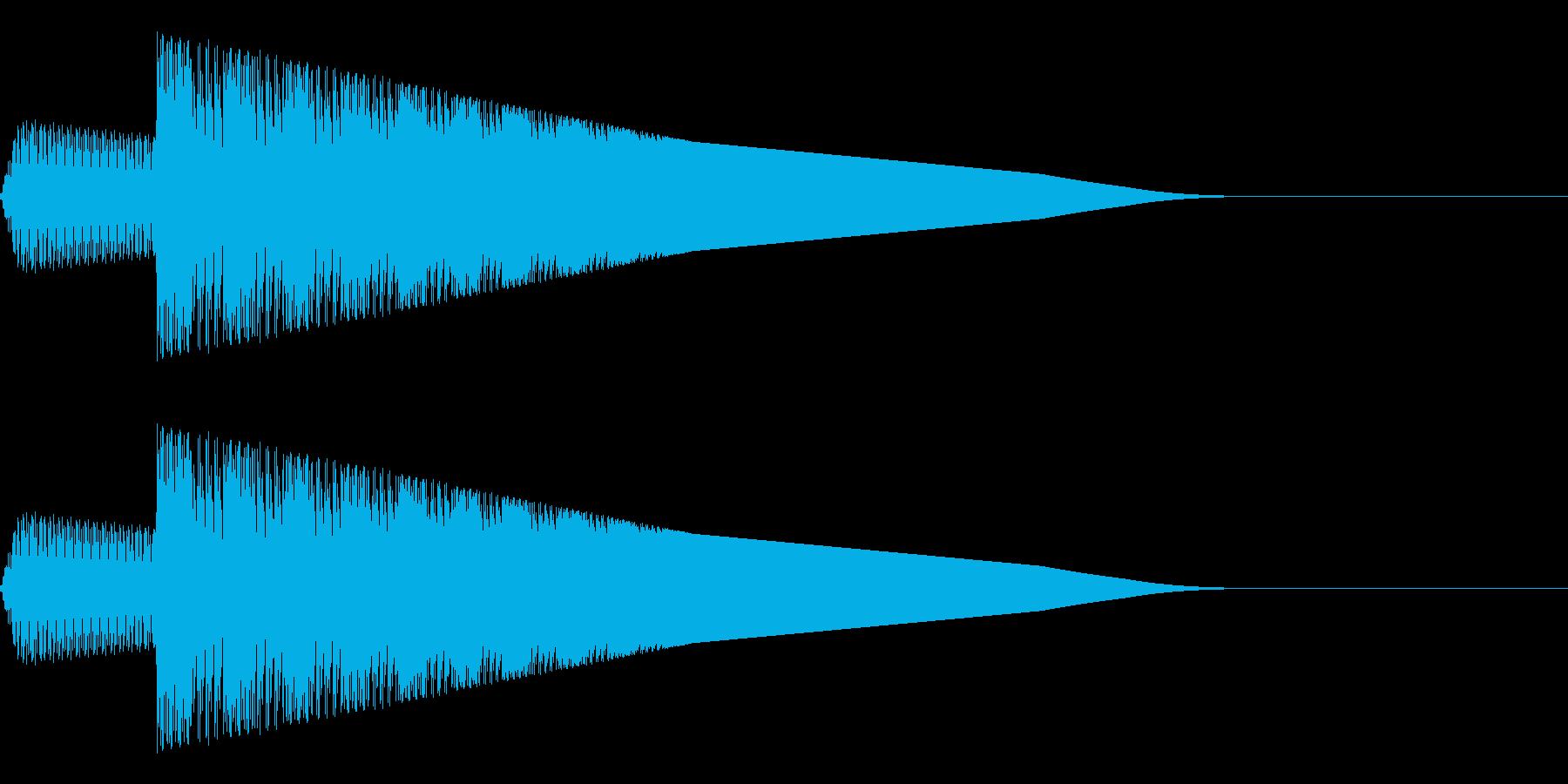 ピョイ(ジャンプ/アクション/ファミコンの再生済みの波形