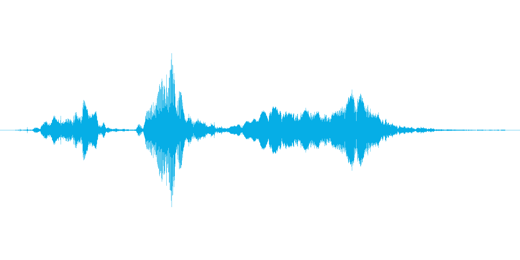 (おばけの話し声)の再生済みの波形