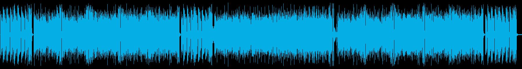 スリリングなギターフュージョンの再生済みの波形