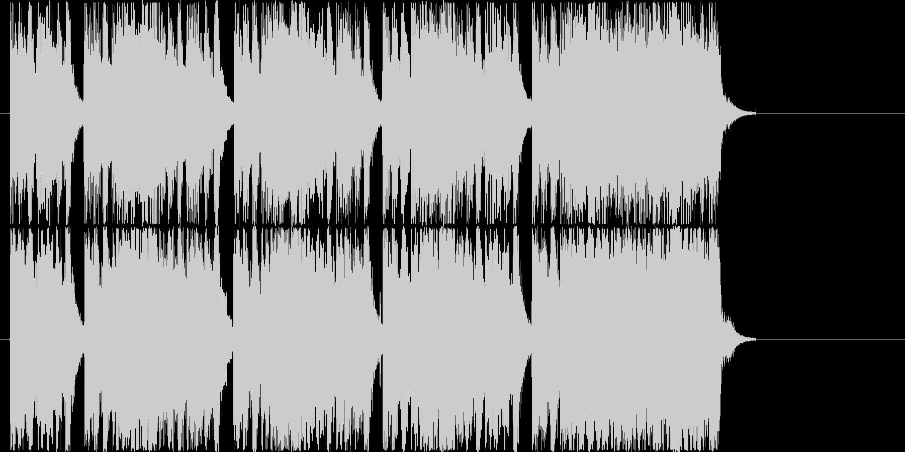 パワフルなギターのハードロックの未再生の波形