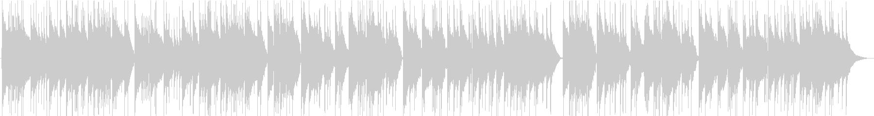 バッハ「リュート組曲第1番」よりの未再生の波形