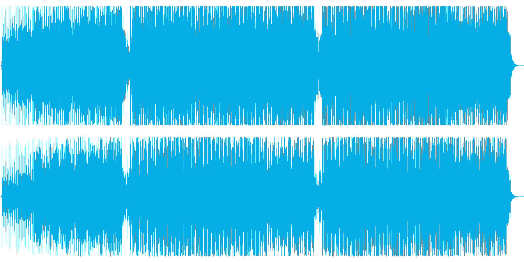 EGの伴奏と柔らかいシンセメロディの再生済みの波形