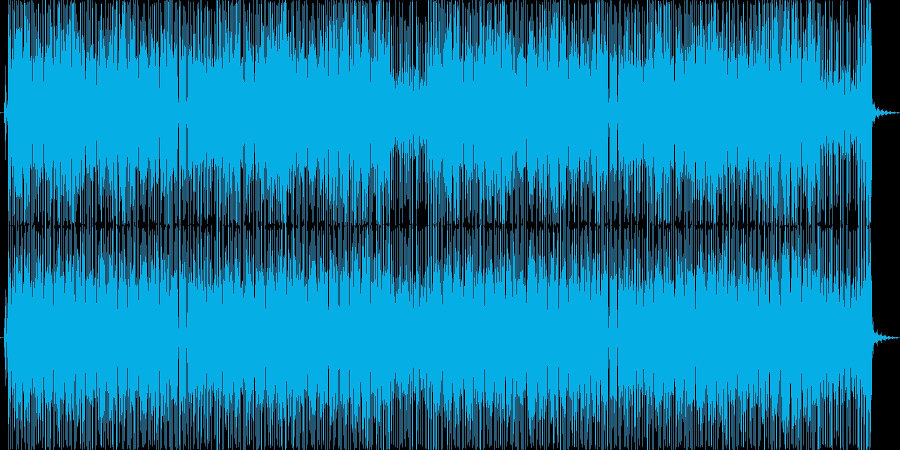 ファンキーなエレキサウンドで跳ねるリズムの再生済みの波形