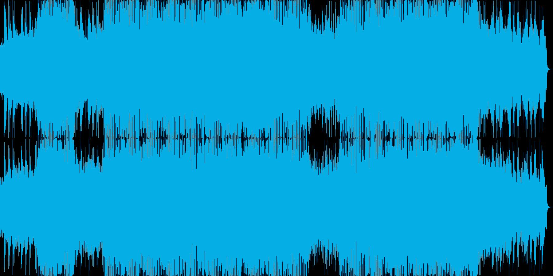 爽やかな4っつ打ち系BGMの再生済みの波形