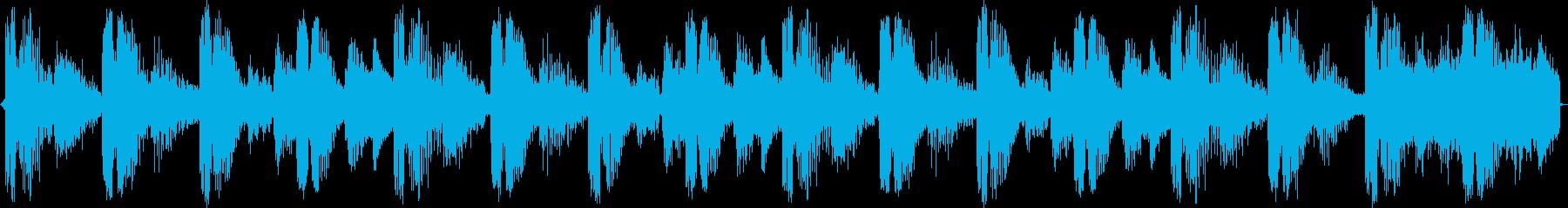 少し大人っぽい雰囲気の4小節ループの再生済みの波形