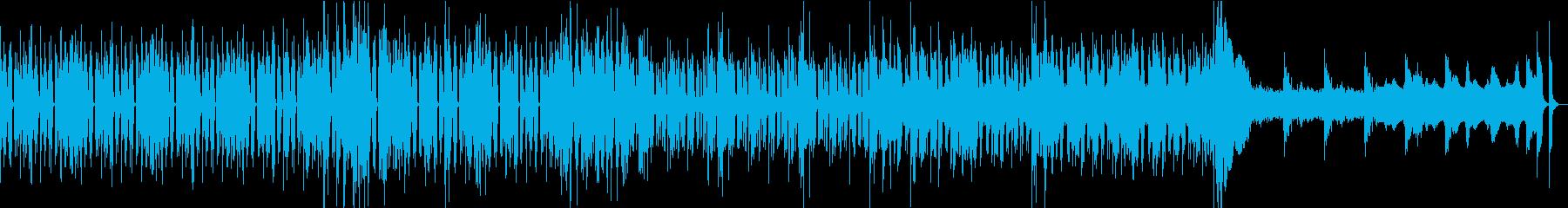 軽快から奇妙へのBGMの再生済みの波形