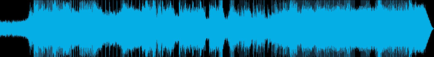 モダンで攻撃力のあるバンドサウンドの再生済みの波形