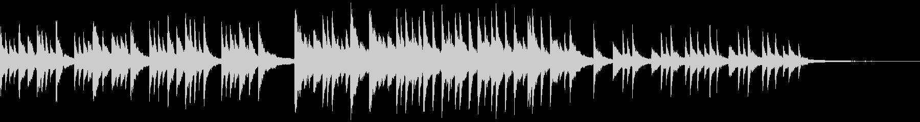 短いピアノソロ曲の未再生の波形