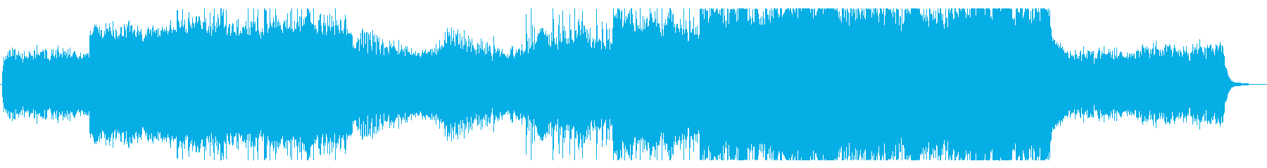 星空をイメージしたアンビエントの再生済みの波形