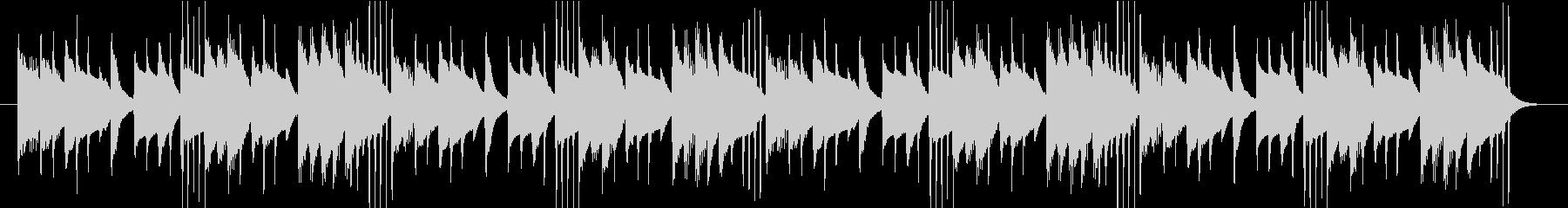 コミカルでユニークなBGMイヤーキャッチの未再生の波形