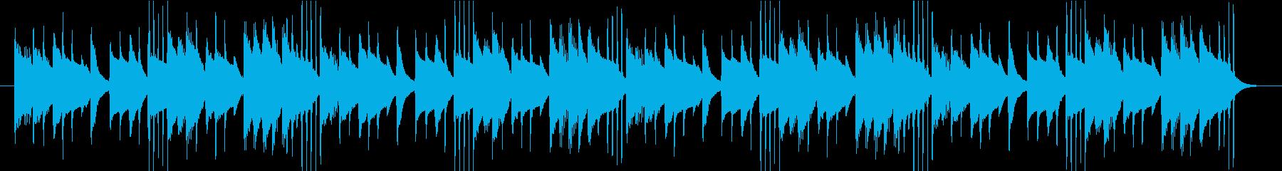 コミカルでユニークなBGMイヤーキャッチの再生済みの波形