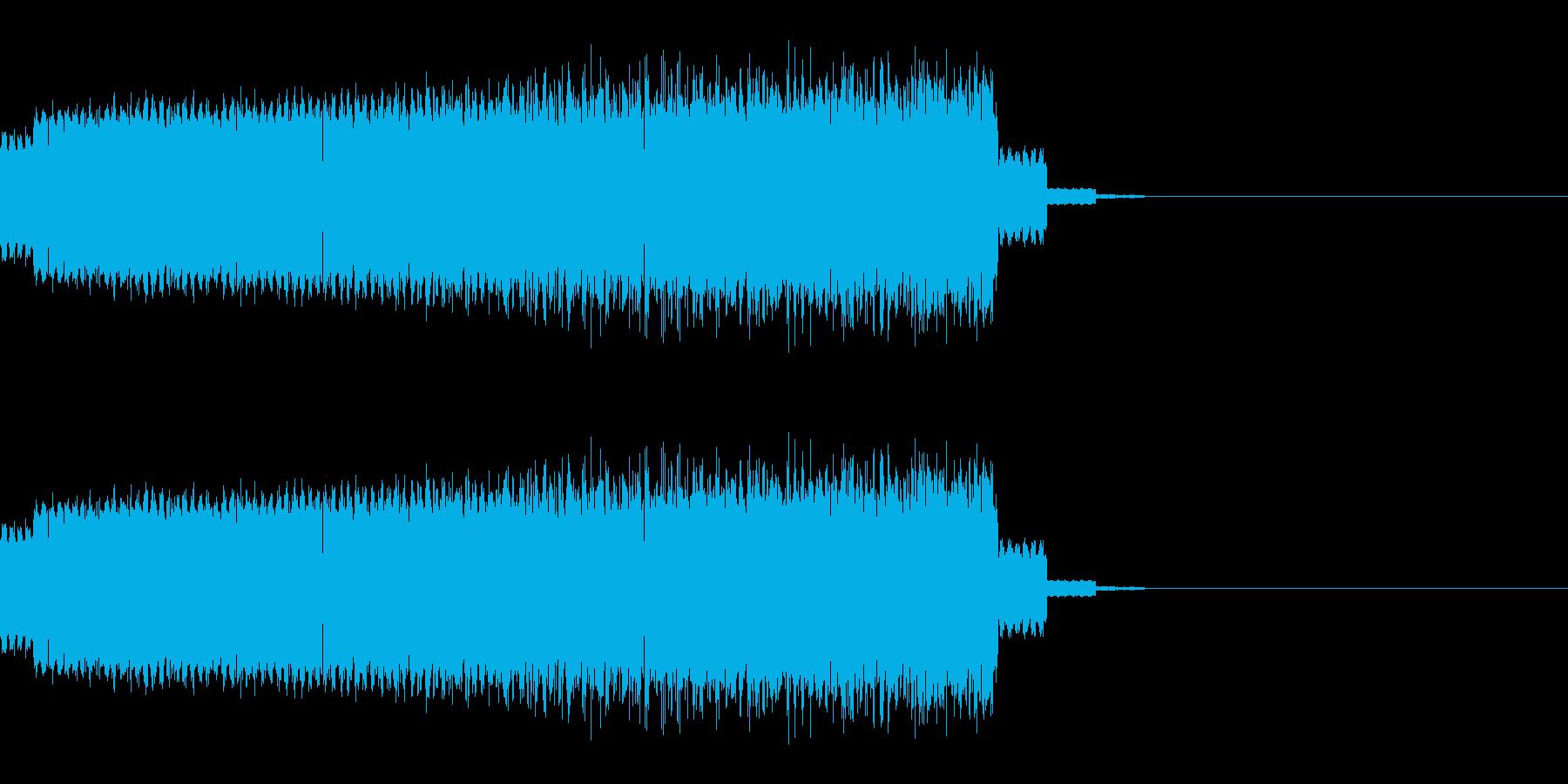 エネルギーを溜める音(チャージ/電気)の再生済みの波形