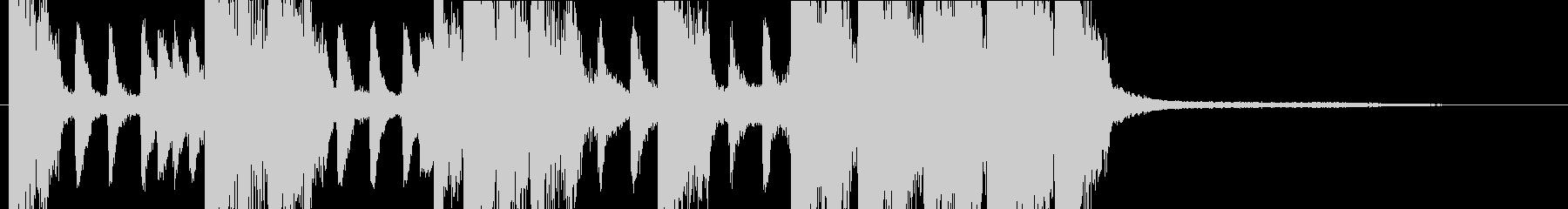 11秒・三味線和風バンド派手目のジングルの未再生の波形