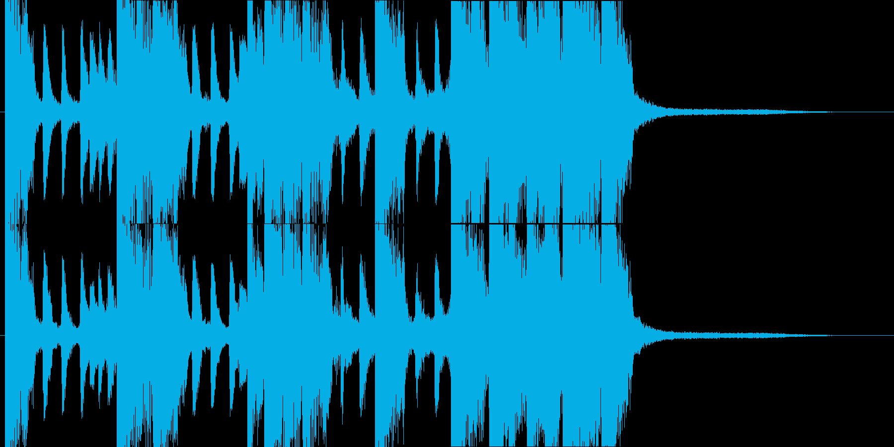 11秒・三味線和風バンド派手目のジングルの再生済みの波形