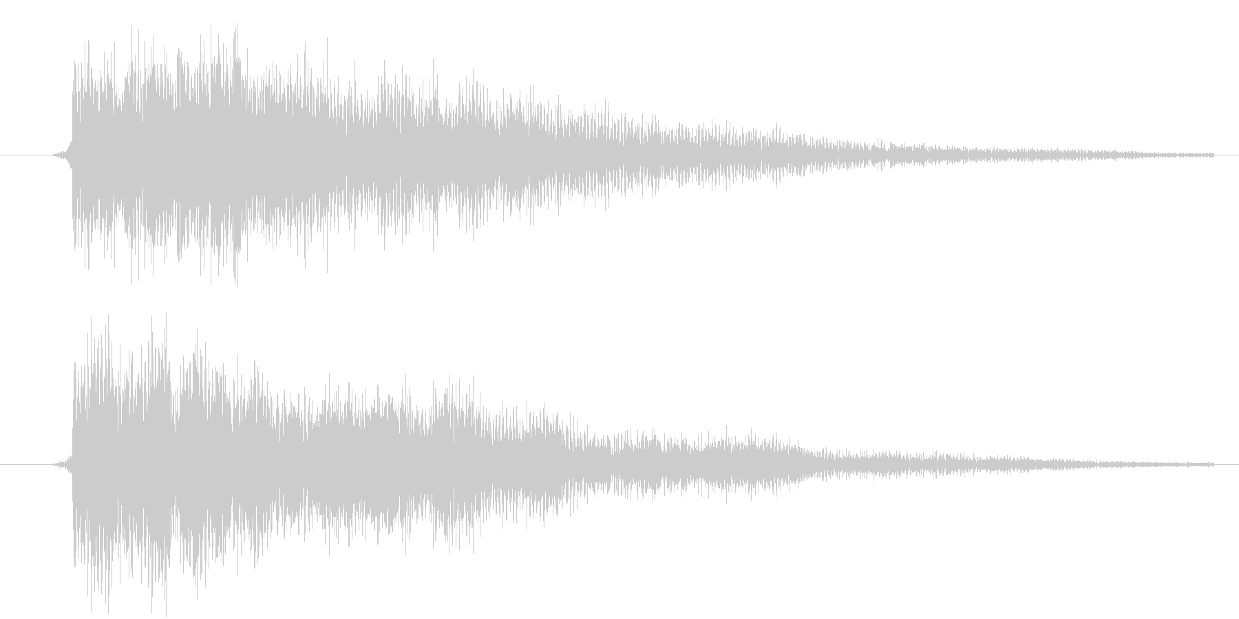 カーソル移動(金属的)の未再生の波形
