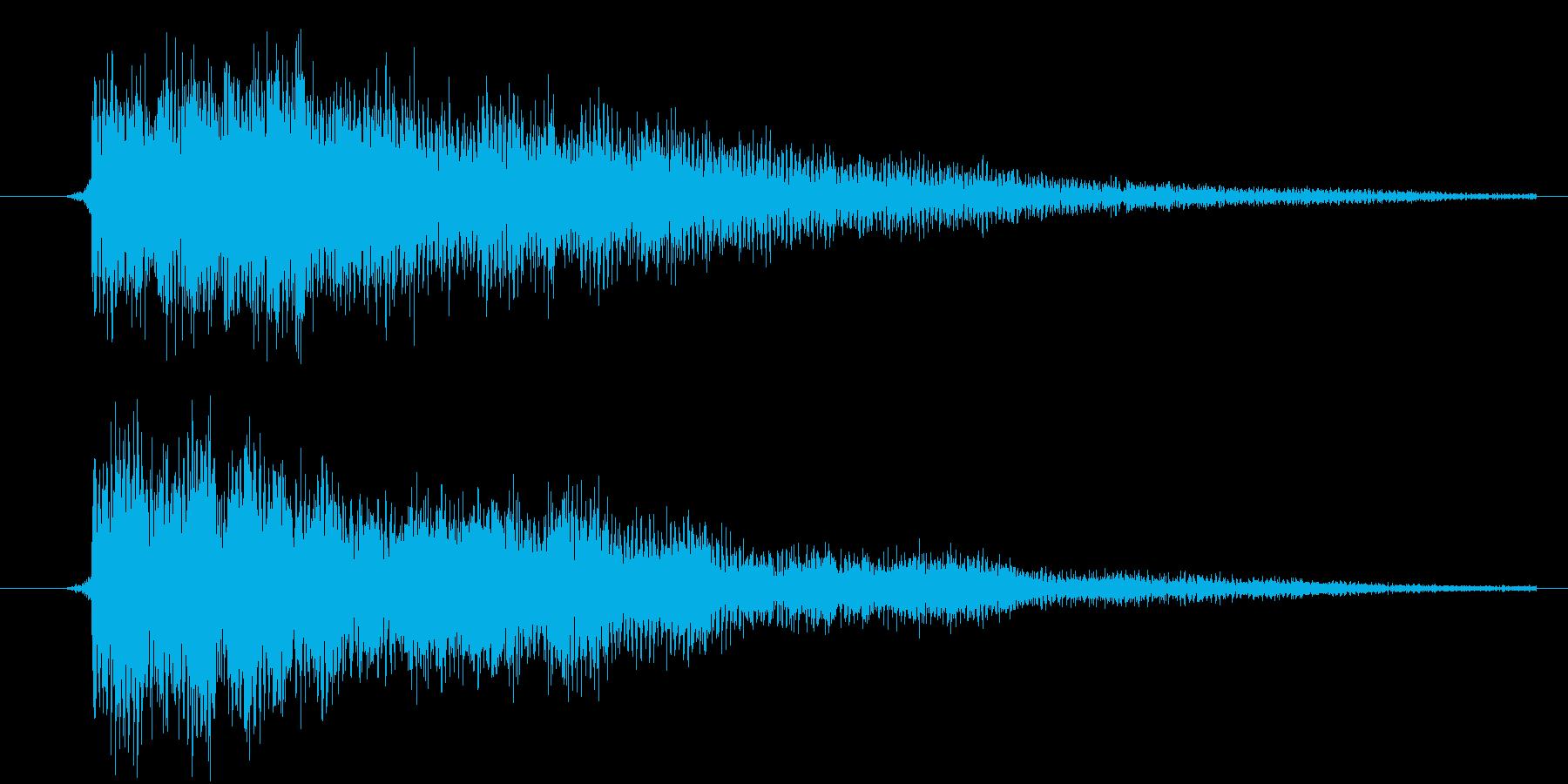カーソル移動(金属的)の再生済みの波形