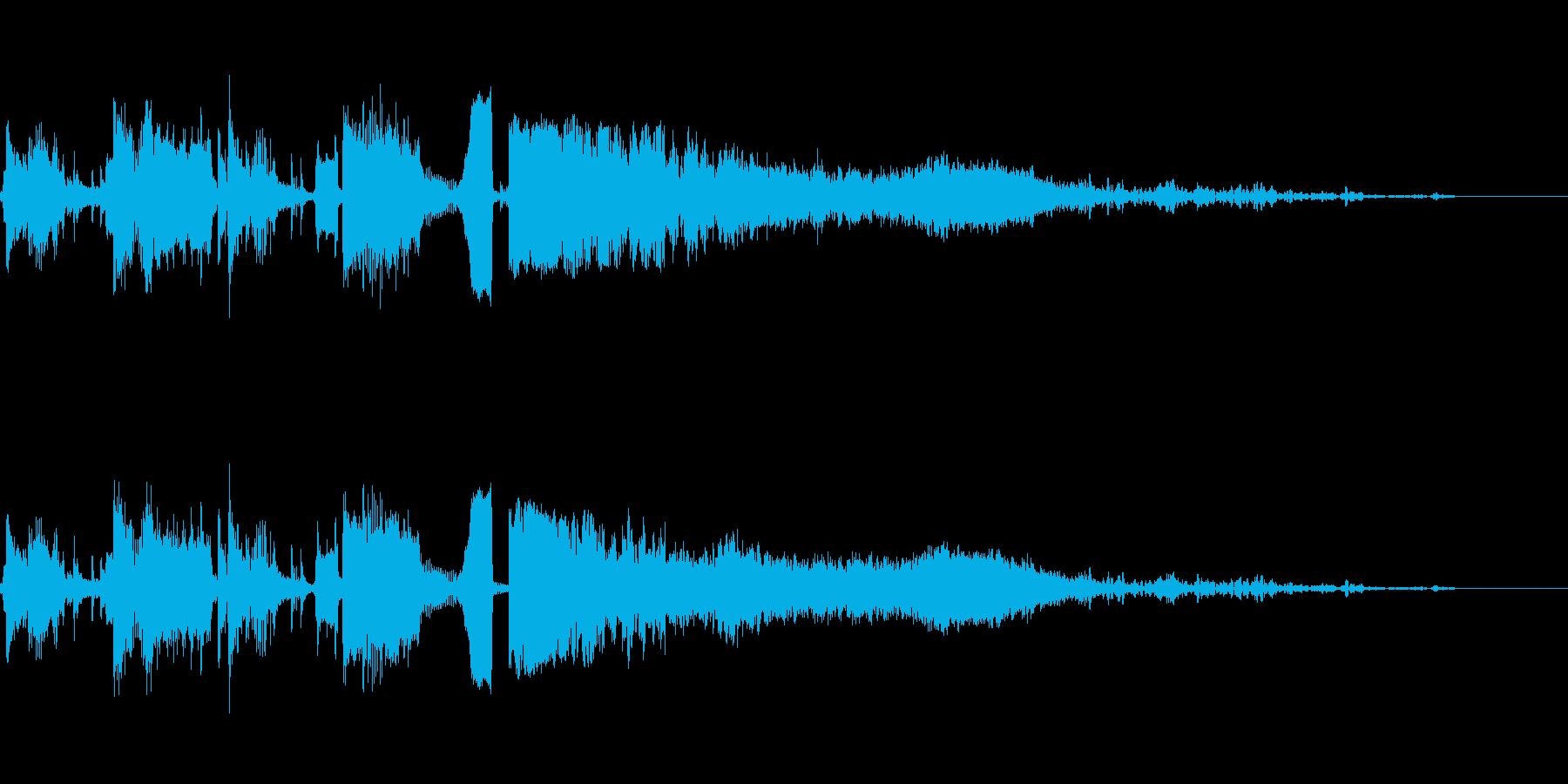 コメディアクセント4の再生済みの波形