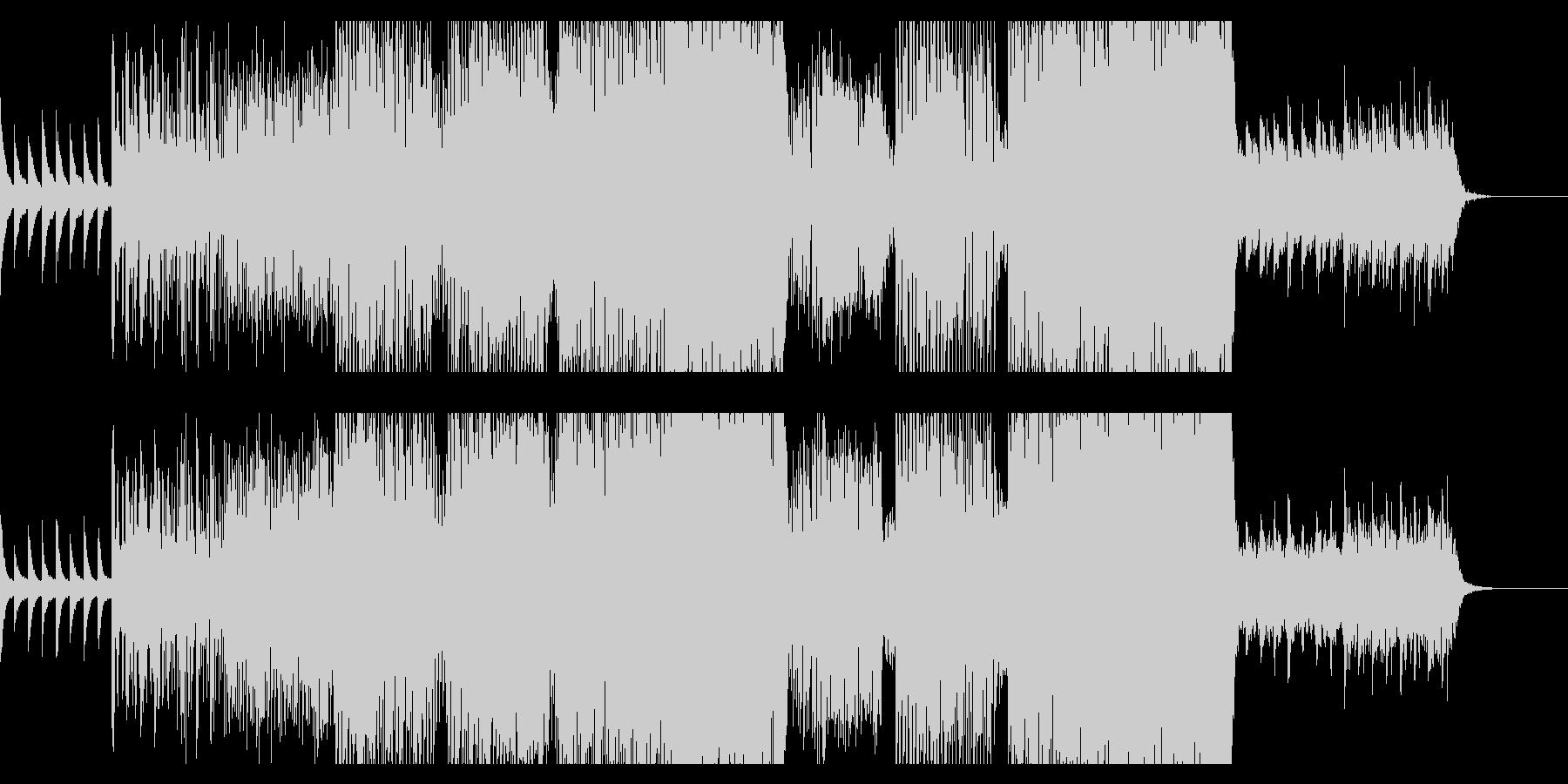 ピアノとグリッヂのポップなエレクトロニカの未再生の波形