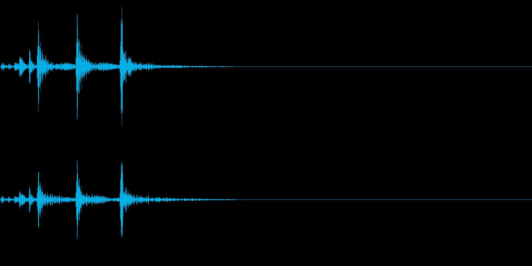 ティンパニ、(手)、ショートバトル...の再生済みの波形