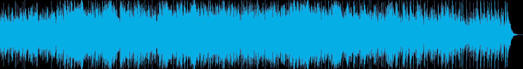 夜の湖畔をイメージしたBGMの再生済みの波形