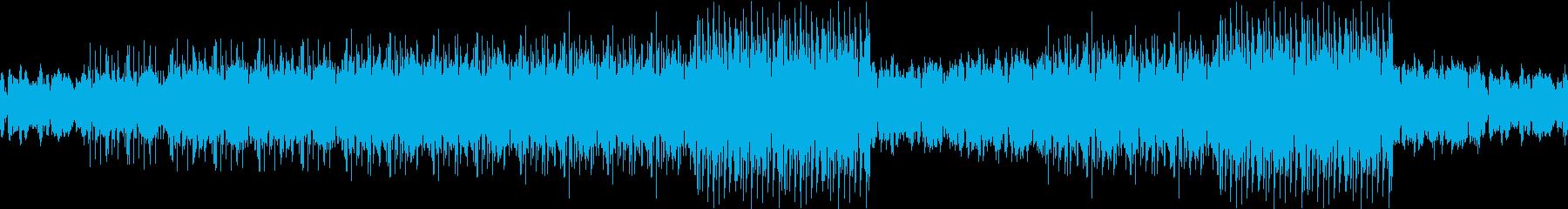 【ループ対応】未来的な雰囲気のBGMの再生済みの波形